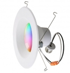 6-in 13W Smart LED Recessed Downlight, Dimmable, 900 lm, Multicolor Selectable CCT