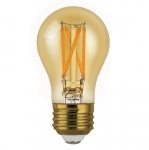 4.5W LED A15 Filament Bulb, Amber Glass, Dimmable, E26, 360 lm, 120V, 2200K