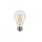 8.5W LED A19 Filament Bulb, Dimmable, E26, 800 lm, 120V, 5000K