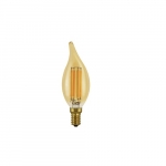 4.5W BA10 LED Filament Bulb, Dimmable, E12, 350 lm, 2200K