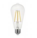 7W LED ST19 Filament Bulb, Dimmable, E26, 800 lm, 120V, 3000K