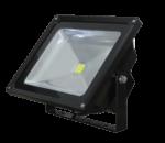 50 Watt Black LED Floodlight, 4000K