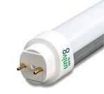 2ft 3500K 100-277V 8W UniV8 LED T8 Tube Light Bulb