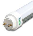 4100K 100-277V 8W 2ft Ballast Compatible T8 LED Tube, Case of 20