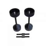 5/8-3 Inch Two Hole Pins, Extra Large Threaded