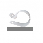 White Plastic Cable Clamps, Screw/Nail Mount
