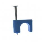 """3/16"""" Blue Low Volt Staples w/ Zinc-Plated Nails"""