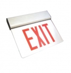 LED Edge Lit Exit Sign, White Housing w/ Red Letters