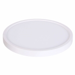 """15W 7"""" Round Edge Lit LED Disk, Dimmable, 3000K, White"""