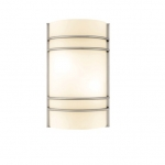 9W LED Ringed Wall Sconce w/ Frosted Glass, 900 Lumens, 3000K