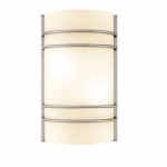 9W LED Ringed Wall Sconce w/Frosted Glass Diffuser, 900 Lumens