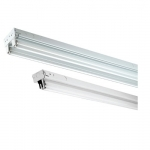 4 Foot LED Ready T8 Tube Tandem Channel Strip, No Ballast