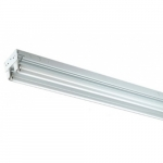 4 Foot LED Ready T8 Tube Tandem Channel Strip, 2 Lamps, No Ballast
