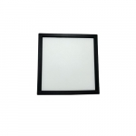 """15W 7"""" Square Edge Lit LED Disk, Dimmable, 3000K, Nickel"""