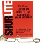 Universal Single Flint Round File Spark Lighter