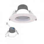 4-in 10W LED Retrofit Downlight, 0-10V Dim, Selectable Lumens, 120V-277V, 2700K, White