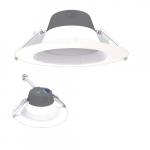 6-in 13W LED Retrofit Downlight, 0-10V Dim, Selectable Lumens, 120V-277V, 2700K, White