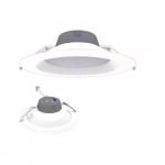 9.5-in 27W LED Retrofit Downlight, 0-10V Dim, Selectable Lumens, 120V-277V, 2700K, White