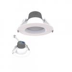 4-in 10W LED Retrofit Downlight, 0-10V Dim, Selectable Lumens, 120V, 2700K, White