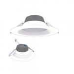 8-in 17W LED Retrofit Downlight, 0-10V Dim, Selectable Lumens, 120V, 2700K, White