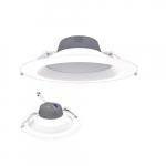 9.5-in 27W LED Retrofit Downlight, 0-10V Dim, Selectable Lumens, 120V, 2700K, White