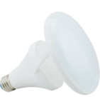 9W Titanium LED BR Bulb, 2400K, CLOUD Design, White