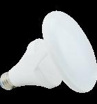 14W Titanium LED BR Bulb, 3000K, CLOUD Design, White