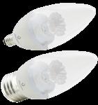 5.5W B11 Dimmable LED Bulb, 2700K, 230 Deg Beam Angle