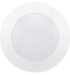 14.5W Recessed Can Flushmount, CLICK Design, 120V, Dimmable, 2700K, White