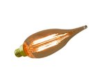 2400K 3.5W Candle Filament LED BA10 Bulb 120V Dimmable Amber