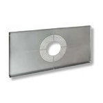 Construction Plate for T-grid Pattern Ceilings with Circular Knockouts