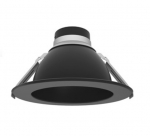 "6"" LED Downlight Engine & Driver Reflector, Matte Black"