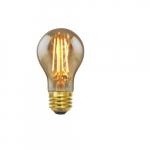 7.5W LED A19 Filament Bulb, Dimmable, E26, 2000K, Amber