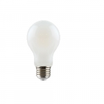 7.5W LED A19 Filament Bulb, Dimmable, E26, 2700K, Frosted
