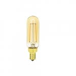 3W Filament LED T6 Bulb, E12 Base, Dimmable, 110 lm, 2000K
