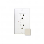 15 Amp GFCI Receptacle Outlet w/LED, Light Almond