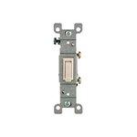 15 Amp Single Pole Toggle Switch, Almond