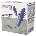 27 dB AirSoft Reusable Earplugs White Nylon Cord