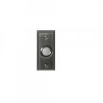 Doorbell Button, Lighted, Round, Pewter
