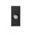 Doorbell Button, Lighted, Round, Oil Rubbed Bronze