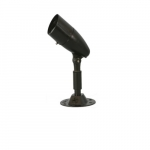 10W LED Bullet Flood, Small, Dimmable, 800 lm, 3000K, Textured Black