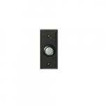 Doorbell Button, Lighted, Round, Matte Black