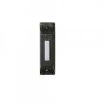 Doorbell Button, Lighted, Push Button, Matte Black
