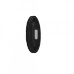 Doorbell Button, Large Oval, Matte Black