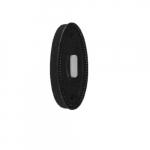 Doorbell Button, Large Oval, Fleur-de-lis Matte Black