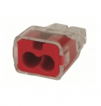 2-Port In-Sure Push-In Wire Connector, 12 AWG, Red, Box of 1,000