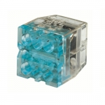 6-Port In-Sure Push-In Wire Connector, 12 AWG, Blue, Box of 2,500