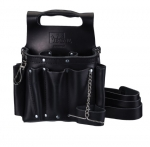 Tool Pouch w/ Strap, Black Leather