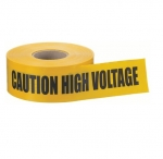 "3"" x 1000', Barricade Tape, Caution High Voltage, Yellow"