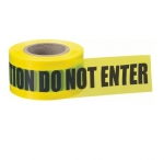 "3"" x 1000', Barricade Tape, Caution Do Not Enter, 2 Mils, Yellow"